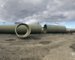 Delivery of large diameter (2200mm) GRP pipes for Gardabani WWTP